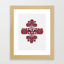 Pomegranates and Flowers Framed Art Print