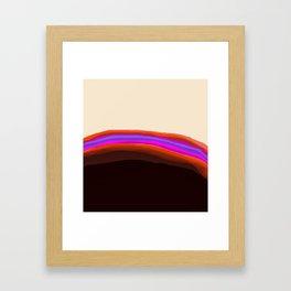 Orange, Purple, and Cream Abstract Framed Art Print