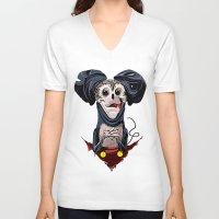 creepy V-neck T-shirts featuring Creepy Mickey by tshirtsz