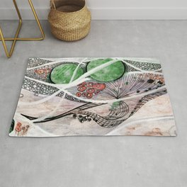 Space Planet Star Abstract Rug