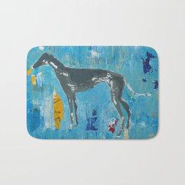 Greyhound Dog Abstract Painting Bath Mat
