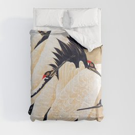 Ito Jakuchu - cranes - Digital Remastered Edition Comforters