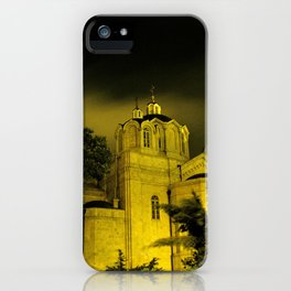 Winter storm over The Church of the Holy Trinity iPhone Case