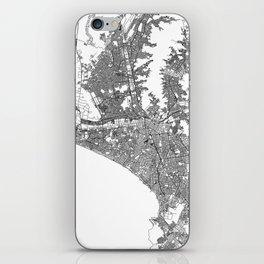 Lima White Map iPhone Skin