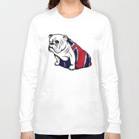 british flag Long Sleeve T-shirts featuring British Bulldog by Pancho the Macho
