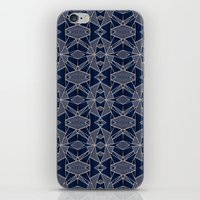 Triangle Tribal Indigo iPhone Skin