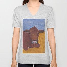 A Cow Named Pinny Unisex V-Neck