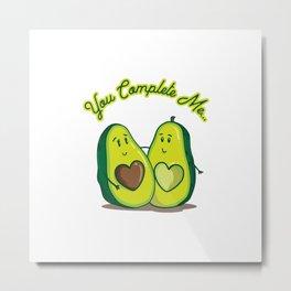Romantic Avocados | Avocado Love Valentine's Day Gift Idea Metal Print