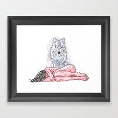 Wolf and I Framed Art Print