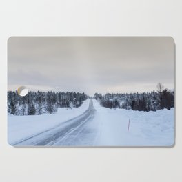 Icy Road in Finland Cutting Board