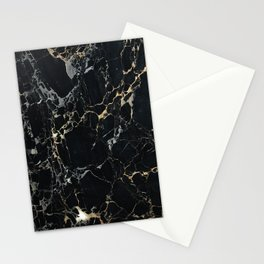 Marble Gold, Black and Silver Stationery Cards