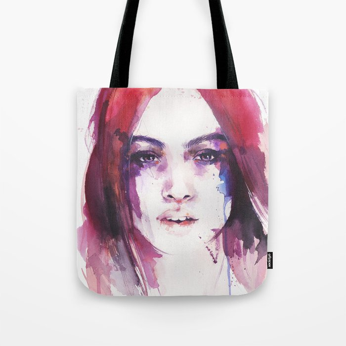 A girl from the other side of the street Tote Bag