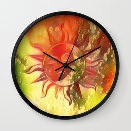 Blissful Sun Moon Wall Clock