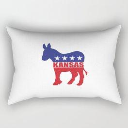 Kansas Democrat Donkey Rectangular Pillow