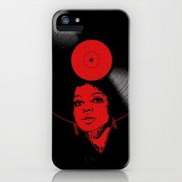 Afrovinyl (Red) iPhone Case