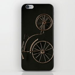 old fashioned bicycle. iPhone Skin