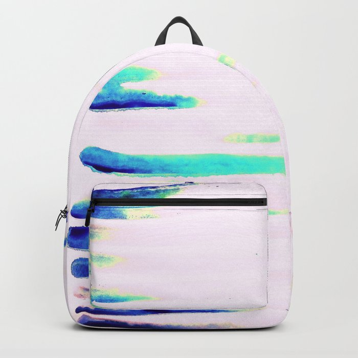 Colorful Seaside Stripes Backpack
