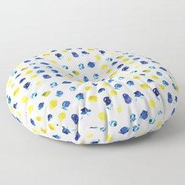 Simple Blue Watercolor Pattern Floor Pillow