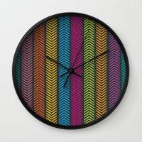 arrows Wall Clocks featuring Arrows by ItsJessica