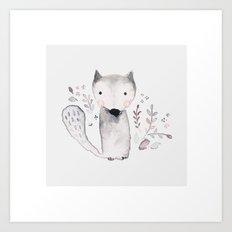 hello little fox Art Print