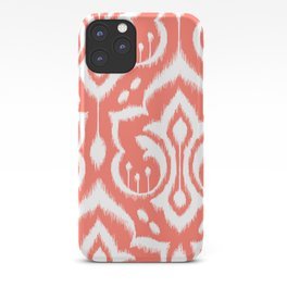 Ikat Damask Coral iPhone Case