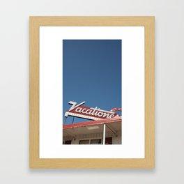Vacationer Motel Framed Art Print