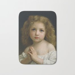 William Adolphe Bouguereau - Little Girl, 1878 Bath Mat