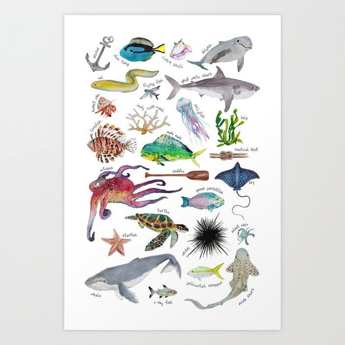 Under the Sea Alphabet Kunstdrucke