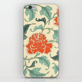 Chinese peony iPhone Skin