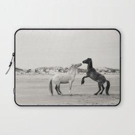 Wild Horses 4 - Black and White Laptop Sleeve