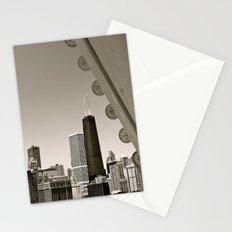 Stark Chicago in Black & White Stationery Cards