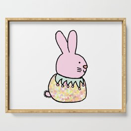 Cute Pink Rabbit - a bunny for spring and Easter Serving Tray