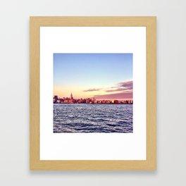 Hoboken Sunsets. Framed Art Print
