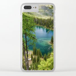 Lower Twin Lakes Waterton National Park Clear iPhone Case