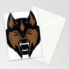 Abstract Wolf Illustration Stationery Cards