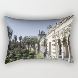 Royal Garden View - Alcazar of Seville Rectangular Pillow