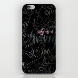 On the blackboard iPhone Skin