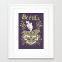 occult Framed Art Prints featuring Occult beauty by Tshirt-Factory