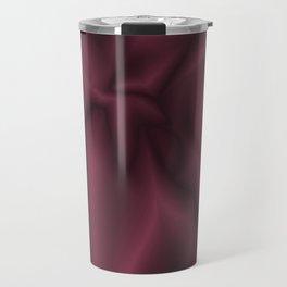 Burgundy silk Travel Mug