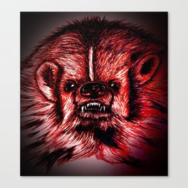 Badger Bad Red Canvas Print