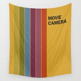 Retro Movie Camera Color Palette Wall Tapestry