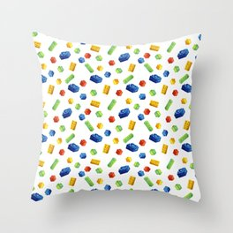 Building Blocks Pattern Throw Pillow