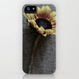 Sunflower on Jute iPhone Case