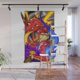 Neotraditional style Kirin Wall Mural
