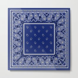 Classic Royal Blue Bandana Metal Print