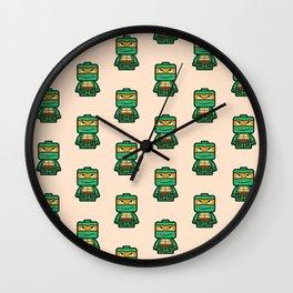 Chibi Michelangelo Ninja Turtle Wall Clock
