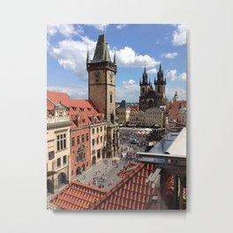 Old Town Square - the magic colour of Prague Metal Print