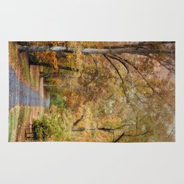 Autumn Passage 2 - Fall Landscape Scene Rug