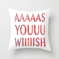 princess bride Throw Pillows featuring As You Wish Princess Bride by FayeJay