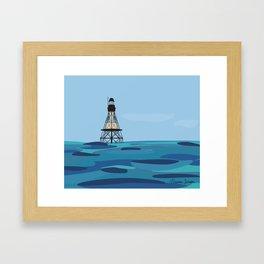 Fowey Rocks Lighthouse Framed Art Print